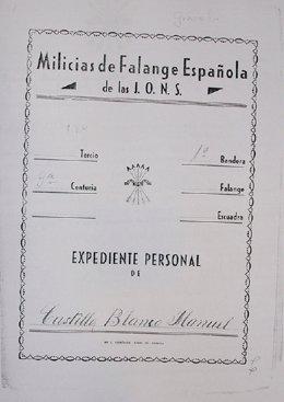 Informe sobre Manuel Castilla Blanco