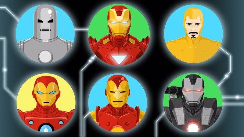Las 50 armaduras de Iron Man