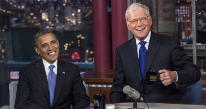 Obama visitará el programa de Letterman una última vez