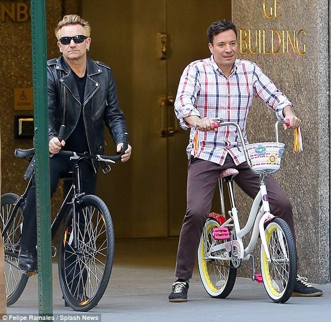 Bono y Jimmy Fallon
