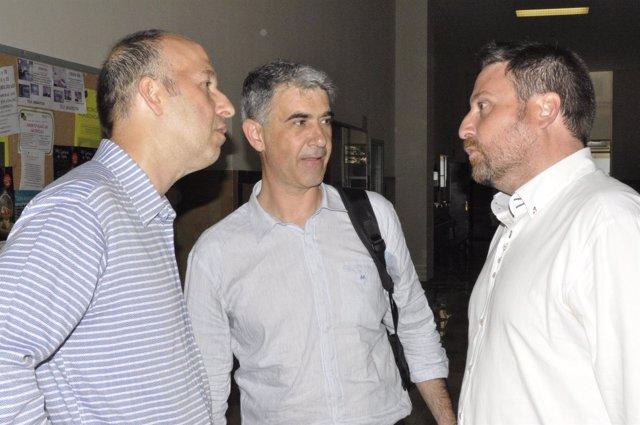 Los candidatos de CHA Carmelo Asensio, Juan Martín y José Luis Soro.