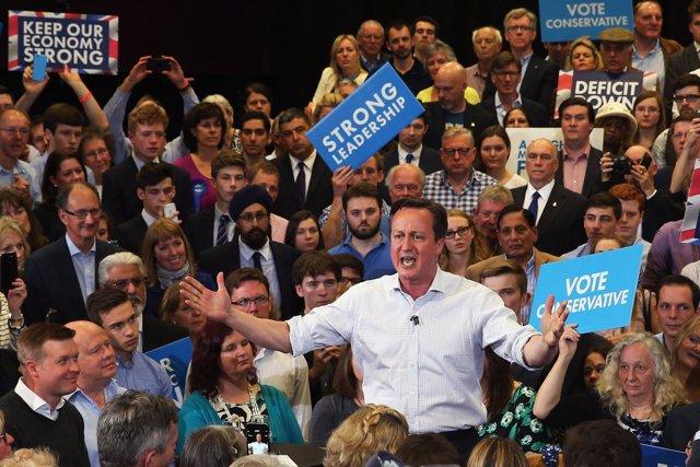 David Cameron en campaña electoral