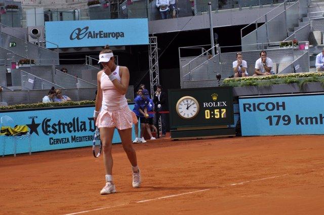 Garbiñe Muguruza en el Mutua Madrid Open