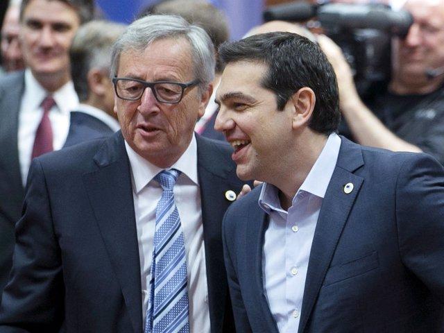 Jean Claude Juncker y Alexis Tsipras
