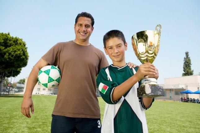 Padres y niños fútbol