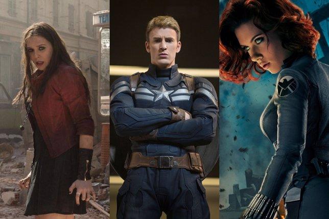 Bruja Escarlata, Capitán América y Viuda Negra
