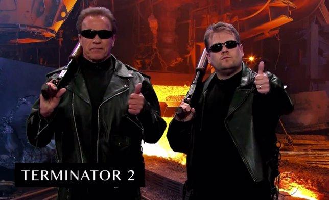 James Corden Y Schwarzenegger