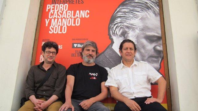 Manolo Solo, Alberto Sanjuan y Pedro Casablanc en 'Ruz-Bárcenas'