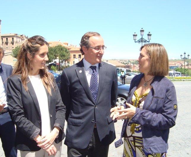 Alonso, con Marcos y Fernández