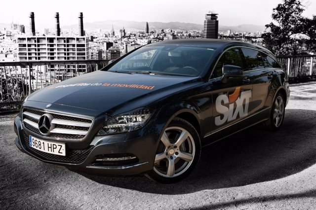 Nuevo modelo de Mercedes de la gama de Sixt Rent a Car