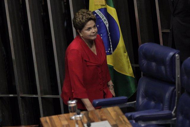 La presidenta de Brasil, Dilma Rousseff, durante una sesión del Congreso