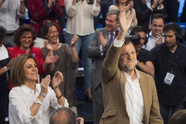 María Dolores de Cospedal y Mariano Rajoy en Toledo