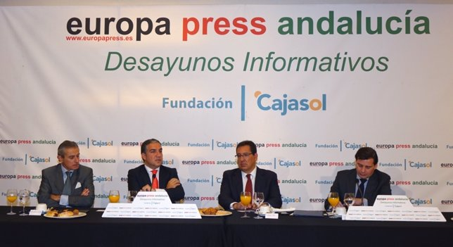 Elías Bendodo, en los Desayunos de Europa Press