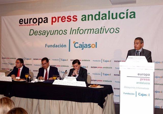 Elías Bendodo, en los Desayunos de Europa Press Andalucía