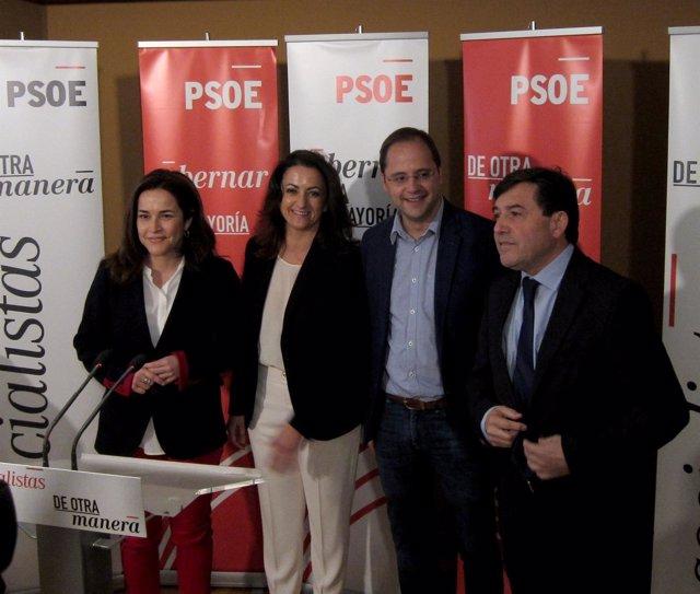 Andreu, con Luena, Arráiz y Pérez