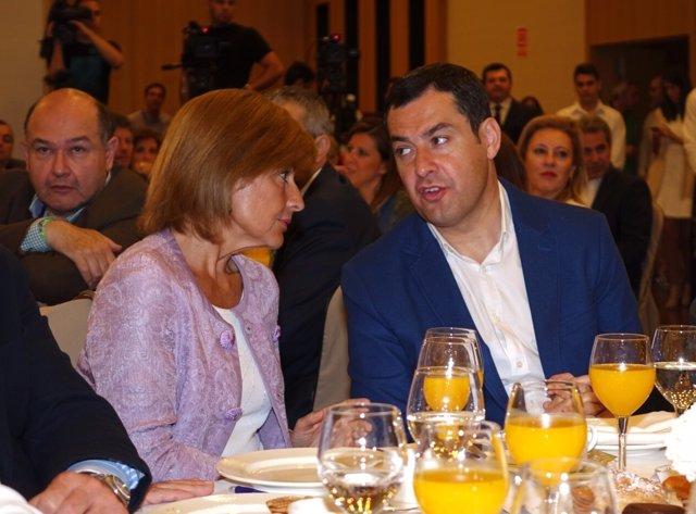 Juanma Moreno, en los Desayunos de Europa Press Andalucía