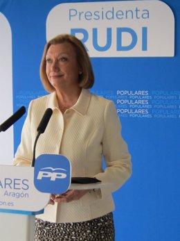 La canddiata del PP a la Presidencia de Aragón, Luisa Fernanda Rudi