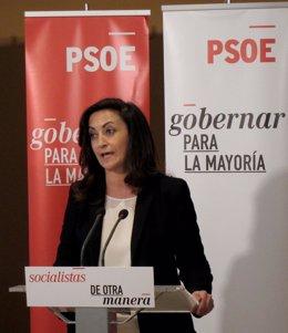 Concha Andreu, durante su intervención
