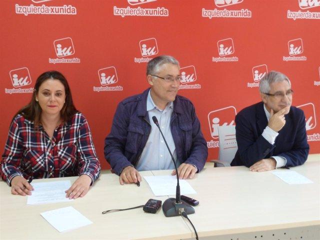 Orviz, Llamazares y Miranda presenatdo el Plan de Rescate de IU