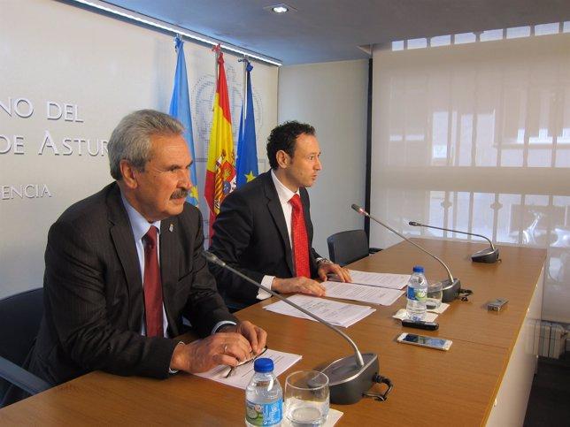 Torre (izquierda) y Martínez, en rueda de prensa.