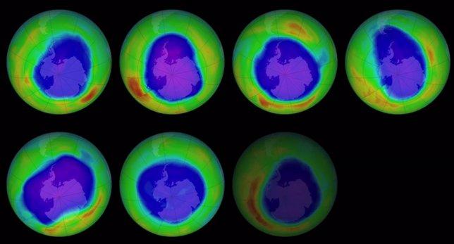 Evolución del agujero de ozono