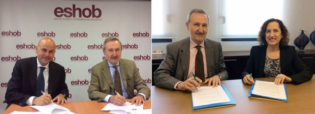 Firma convenio ESHOB y CETT