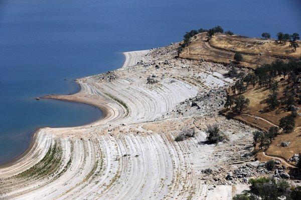 mar costa sequía