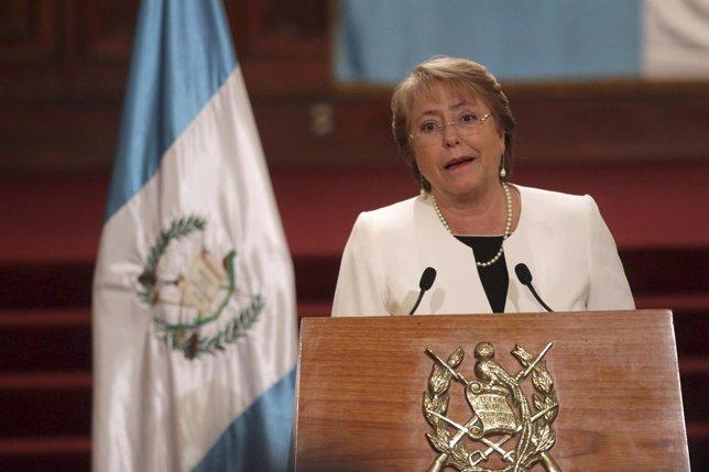 La presidenta de Chile, Michelle Bachelet