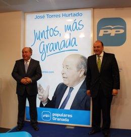 José Torres Hurtado y Sebastián Pérez en el inicio de campaña