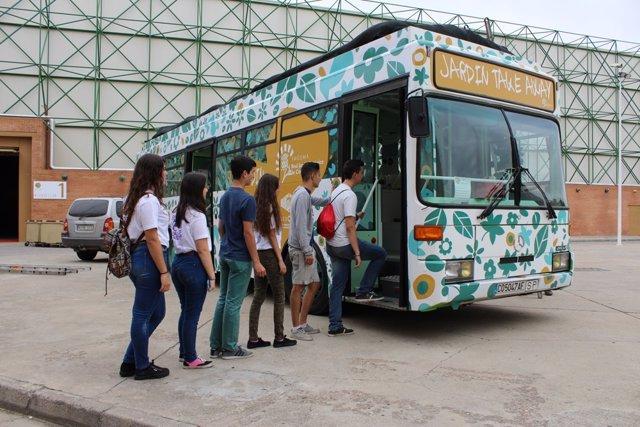 Autobús Jardín Take Away de la Fundación Descubre y Jardín Botánico de Córdoba