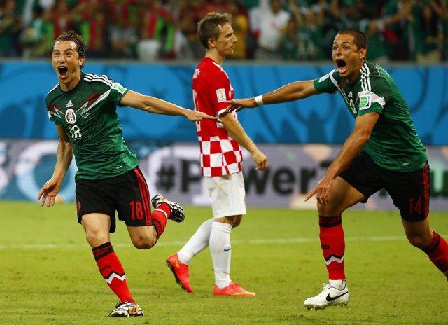 México Guardado Chicharito Hernández Modric Croacia