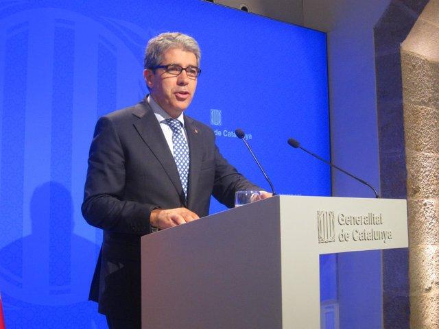 El portavoz del Govern Francesc Homs