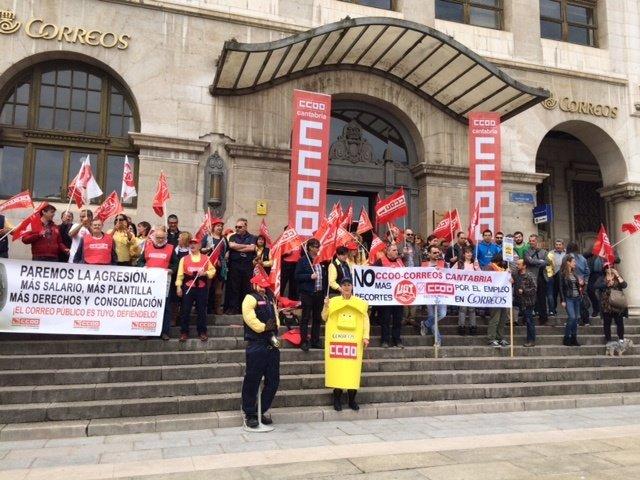 Concentración de Correos en Santander