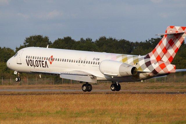 Avión de la compañía aérea Volotea