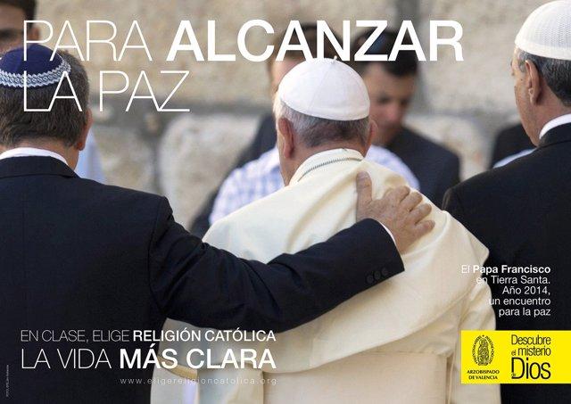Campaña del Arzobispado para promocionar la Religión Católica en centros