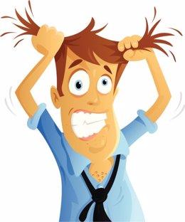 Tricotilomanía, pelo, estrés