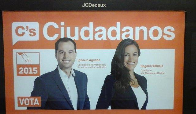 Cartel de los candidatos de Ciudadanos en Metro