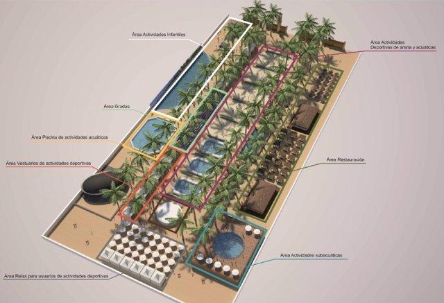 Plano del proyecto 'Jerez Beach'
