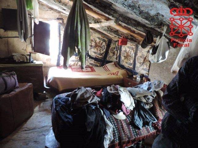 Uno de los lugares donde el grupo alojaba a sus víctimas.