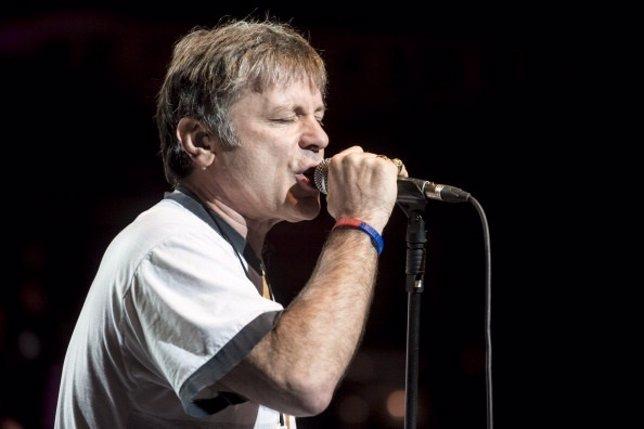 Bruce Dickinson, de Iron Maiden, en un concierto en Londres
