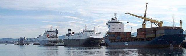 Barcos en el Puerto de Santander