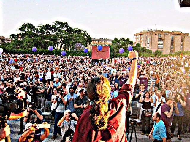 Pablo Iglesias en el Parque Fofó