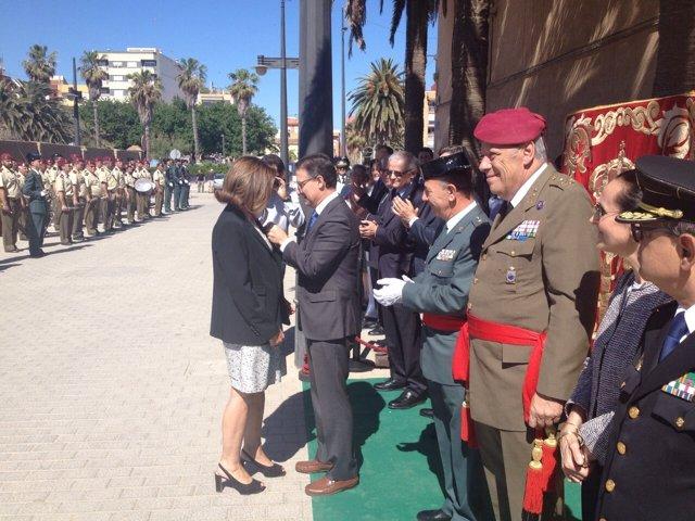 Serafín Castellano en el acto de la Guardia Civil