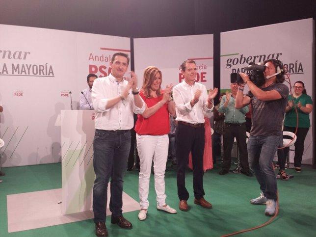 Díaz, junto a Sánchez Teruel y Juan Carlos Pérez Navas