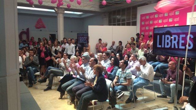 Candidatos de UPyD en un acto de campaña