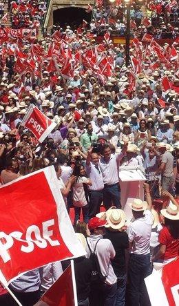 Mitin PSOE en Plaza de Toros