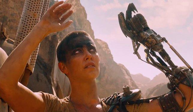 Charlize Theron en Mad Max Fury Road.