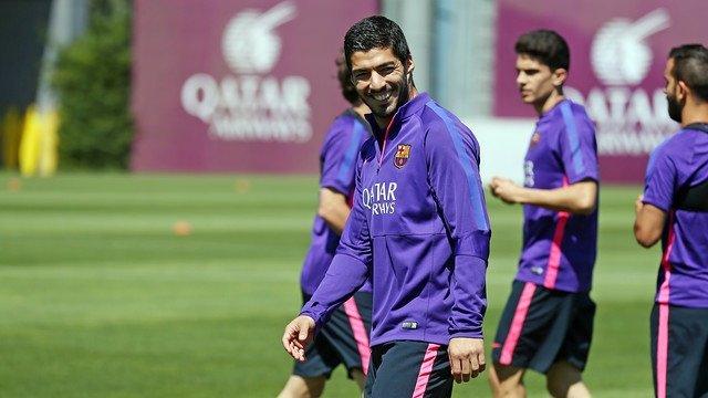 Luis Suárez Barcelona entrenamiento