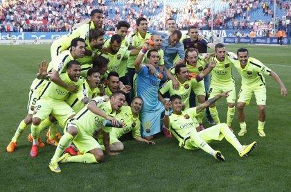 El FC Barcelona se proclama campeón de la liga española de fútbol