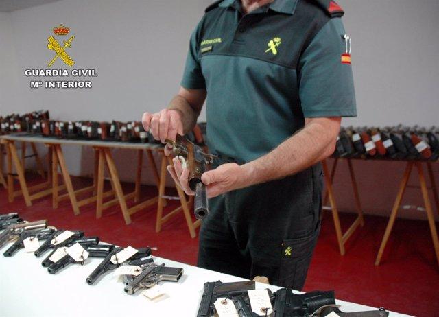 Imagen de las armas a subastar